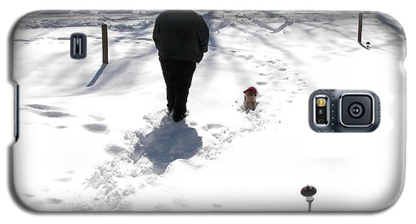 Galaxy S5 Case featuring the photograph Snow Buddies by Pamela Hyde Wilson