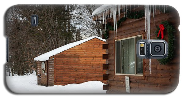 Galaxy S5 Case featuring the photograph Snow Covered General Store by Ann Murphy