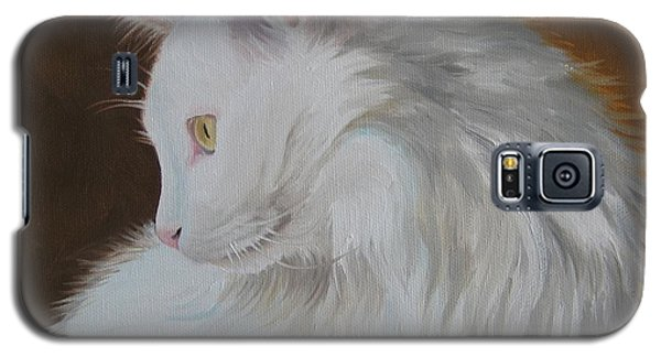 Galaxy S5 Case featuring the painting Snowball by Jindra Noewi