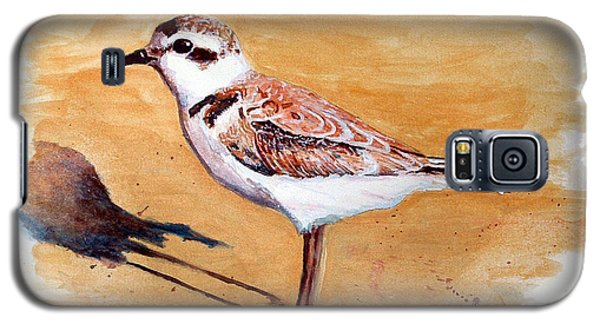 Galaxy S5 Case featuring the painting Snowy Plover by Chriss Pagani