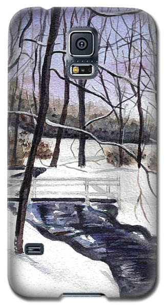 Snowy Shawnee Stream Galaxy S5 Case