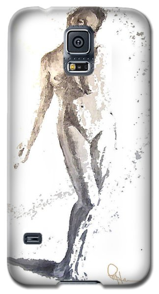 Galaxy S5 Case featuring the mixed media Soft by Rachel Hames