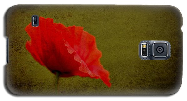 Galaxy S5 Case featuring the photograph Solitary Poppy. by Clare Bambers