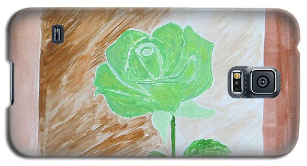 Galaxy S5 Case featuring the painting Solitary Rose by Sonali Gangane