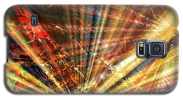 Galaxy S5 Case featuring the painting Sound Of Light by Kathy Sheeran