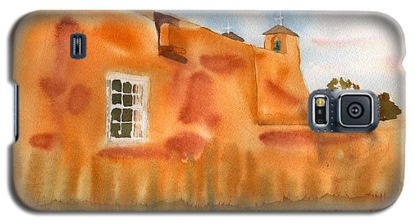 Galaxy S5 Case featuring the painting Southwest Walled Monastery by Sharon Mick