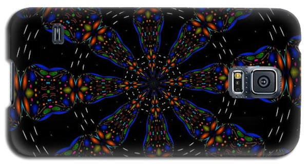 Galaxy S5 Case featuring the digital art Space Flower by Alec Drake