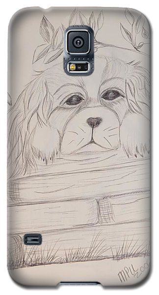 Galaxy S5 Case featuring the drawing Spaniel Pup by Maria Urso