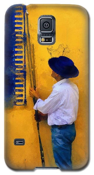 Spanish Man At The Yellow Wall. Impressionism Galaxy S5 Case