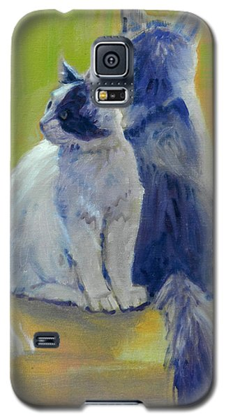 Galaxy S5 Case featuring the painting Spanky And Booboo by Donald Maier