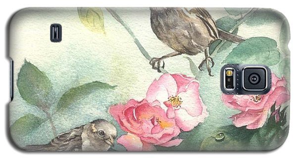Sparrows And Dog Rose Galaxy S5 Case by Sandra Phryce-Jones