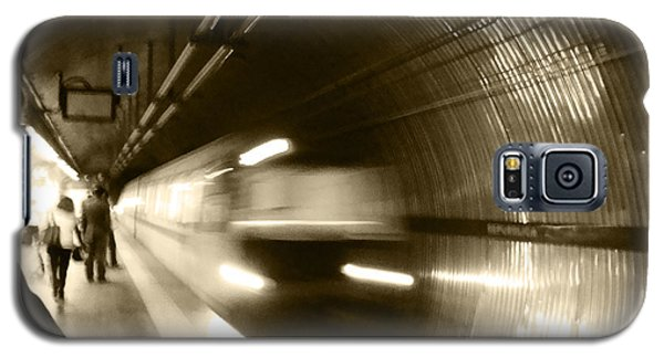 Galaxy S5 Case featuring the photograph Speeding Train by Marta Cavazos-Hernandez