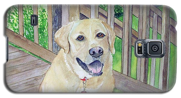 Spencer On Porch Galaxy S5 Case by Carol Flagg