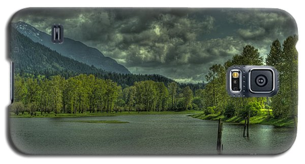 Spring Clouds At The Nicomen Slough Galaxy S5 Case by Rod Wiens
