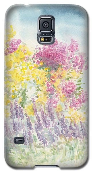 Galaxy S5 Case featuring the painting Spring Garden by Jane  See