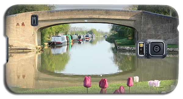 Spring On The Oxford Canal Galaxy S5 Case by Linsey Williams