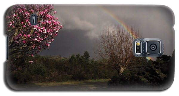 Galaxy S5 Case featuring the photograph Spring Rainbow by Katie Wing Vigil