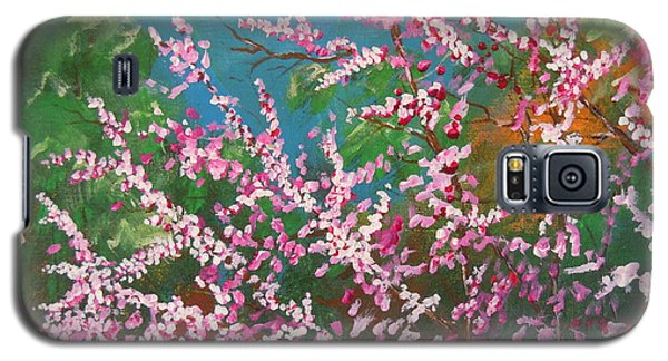 Galaxy S5 Case featuring the painting Springs Blossoms  by Dan Whittemore