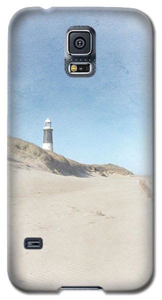 Spurn Point Lighthouse Texture Galaxy S5 Case