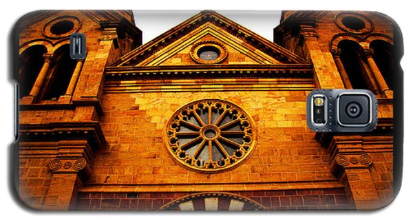Galaxy S5 Case featuring the photograph St. Francis Basilica Cathedral by Susanne Still