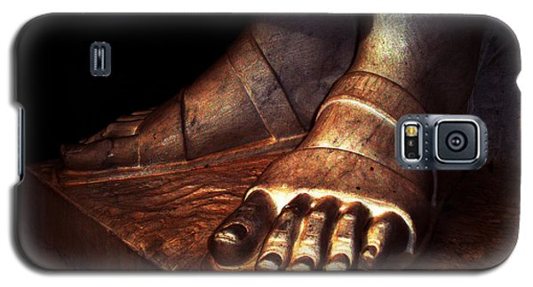 Galaxy S5 Case featuring the photograph St. Francis Of Assisi's Sacred Feet by Susanne Still