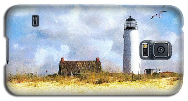 Galaxy S5 Case featuring the photograph St. George Island Lighthouse by Rhonda Strickland