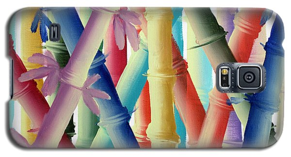Galaxy S5 Case featuring the painting Stalks Of Color by Kathy Sheeran