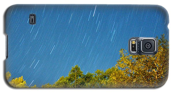 Star Trails On A Blue Sky Galaxy S5 Case
