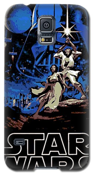 Star Wars Poster Galaxy S5 Case by George Pedro
