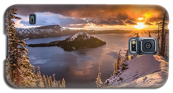 Starburst Sunrise At Crater Lake Galaxy S5 Case