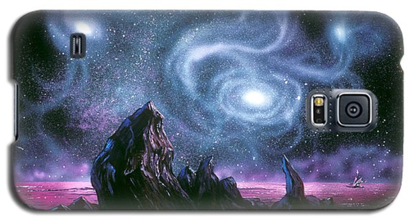 Starry Skies On Unknown Shores Galaxy S5 Case