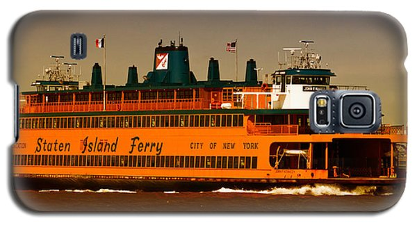 Galaxy S5 Case featuring the photograph Staten Island Ferry by Nancy De Flon