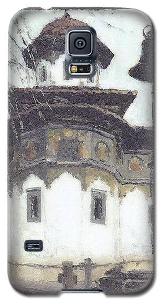 Galaxy S5 Case featuring the painting Stavropoleos Church by Olimpia - Hinamatsuri Barbu