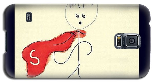 Superhero Galaxy S5 Case - #stickman #superman #art #drawing by Malika Shrestha