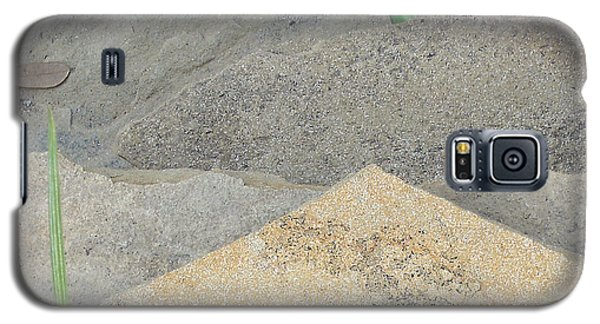 Galaxy S5 Case featuring the photograph Stone And Grass by Louis Nugent