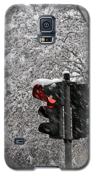 Galaxy S5 Case featuring the photograph Stop The Snow by Raffaella Lunelli