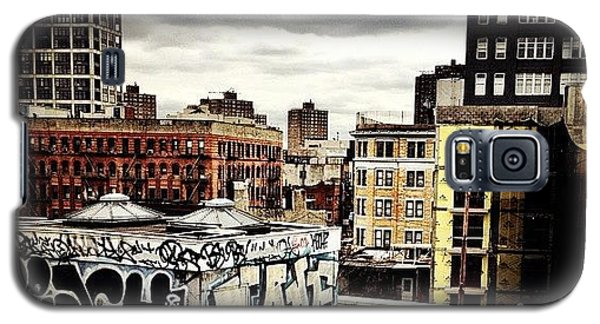 Cool Galaxy S5 Case - Storm Clouds And Graffiti Looking Out by Vivienne Gucwa