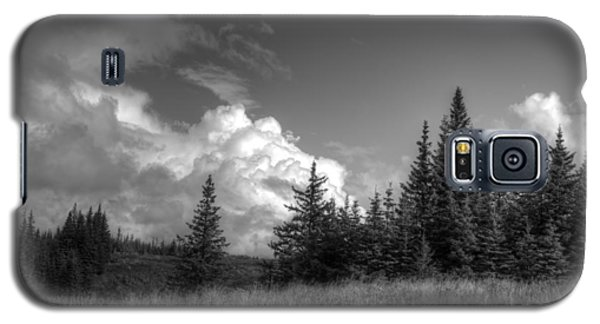 Galaxy S5 Case featuring the photograph Storm Clouds Building by Michele Cornelius