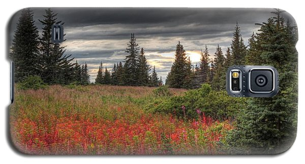 Galaxy S5 Case featuring the photograph Storm Clouds In Fall by Michele Cornelius