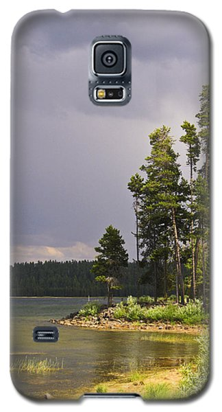 Galaxy S5 Case featuring the photograph Storm Clouds Over A Lake by Anne Mott