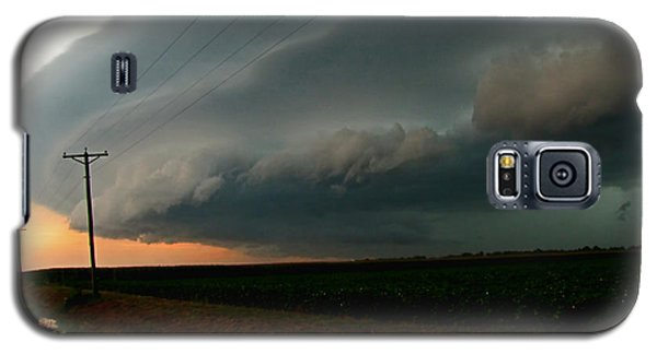 Galaxy S5 Case featuring the photograph Storm Front by Debbie Portwood
