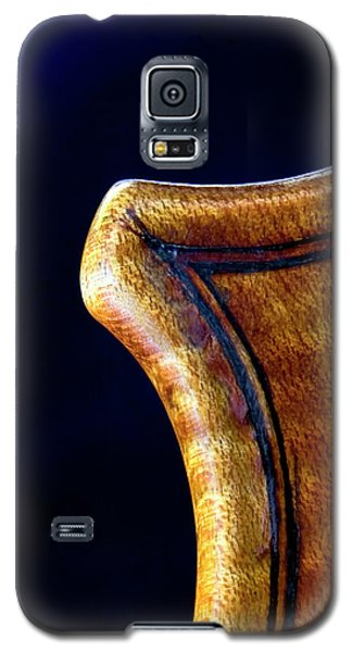 Galaxy S5 Case featuring the photograph Stradivarius Corner Closeup by Endre Balogh