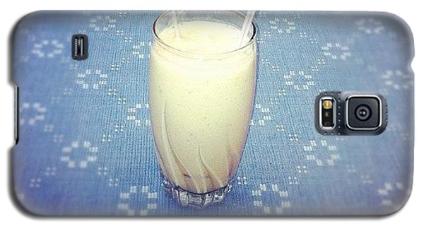 Workout Galaxy S5 Case - #strawberry #mango #soymilk #smoothie by Marie Constant