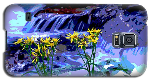 Galaxy S5 Case featuring the photograph Stream And Flowers by Zawhaus Photography