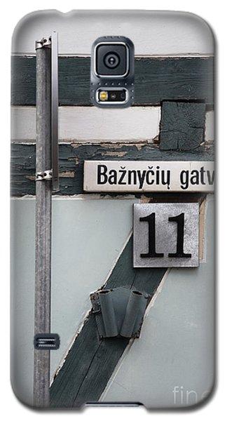 Street Plate Galaxy S5 Case by Agnieszka Kubica