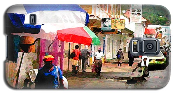 Street Scene In Rosea Dominica Filtered Galaxy S5 Case