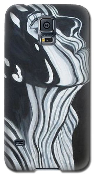 Galaxy S5 Case featuring the painting Stripes by Julie Brugh Riffey