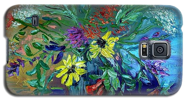 Galaxy S5 Case featuring the painting Summer Bouquet by Carol Berning