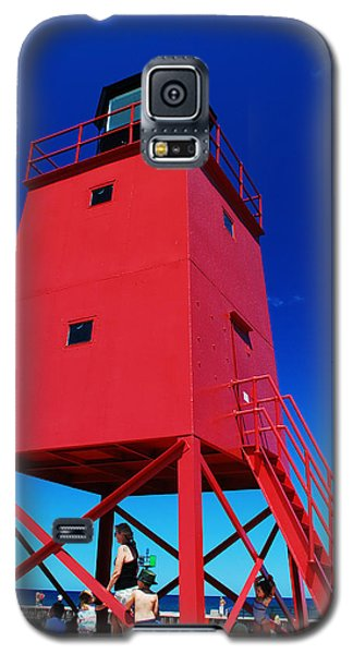 Galaxy S5 Case featuring the photograph Summer Fun Down By The Lighthouse by Janice Adomeit