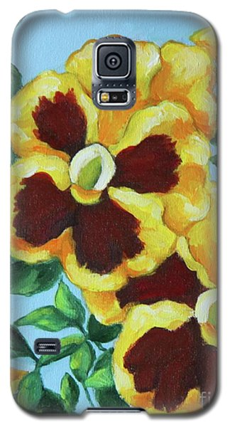 Galaxy S5 Case featuring the painting Summer Pancies by Inese Poga